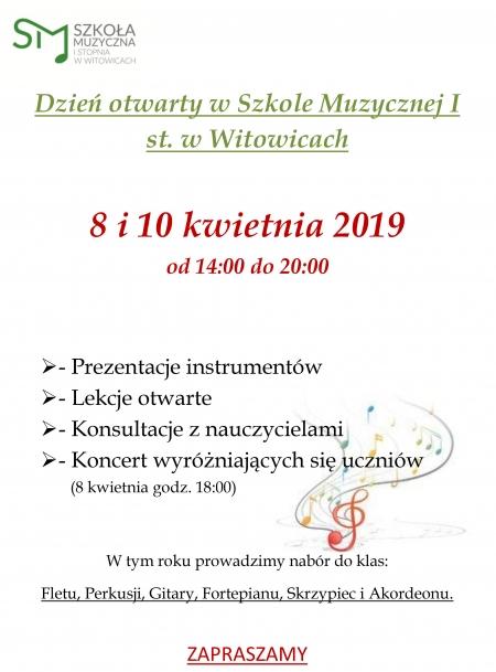 Dni Otwarte Szkoły Muzycznej I st. w Witowicach